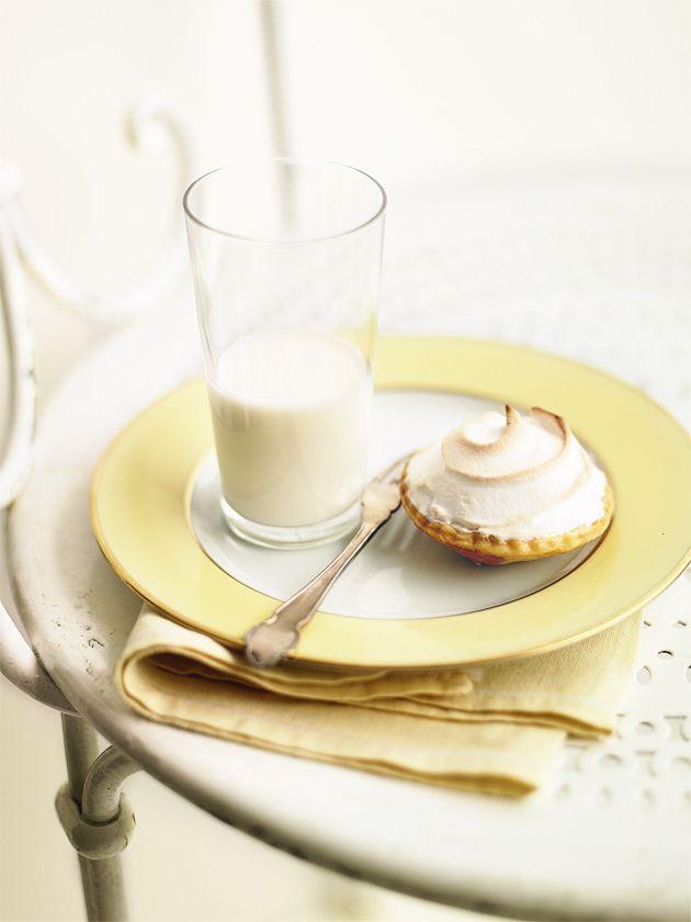 honey custard meringue tarts from donna hay