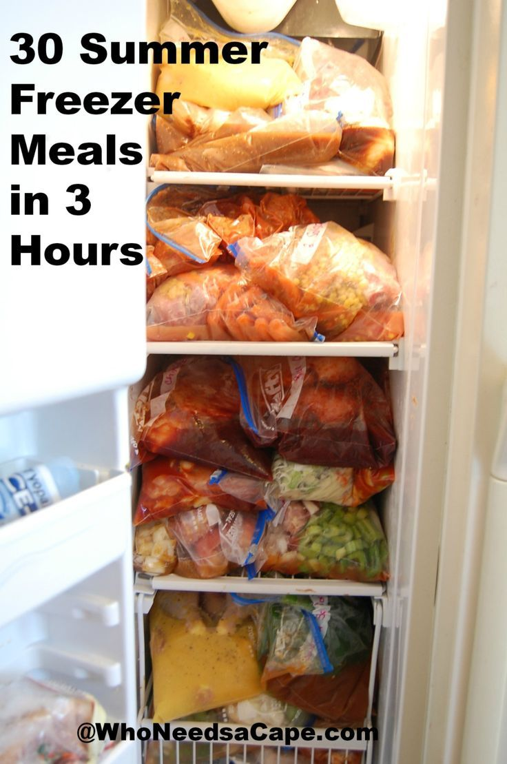 30 freezer meals for summer!