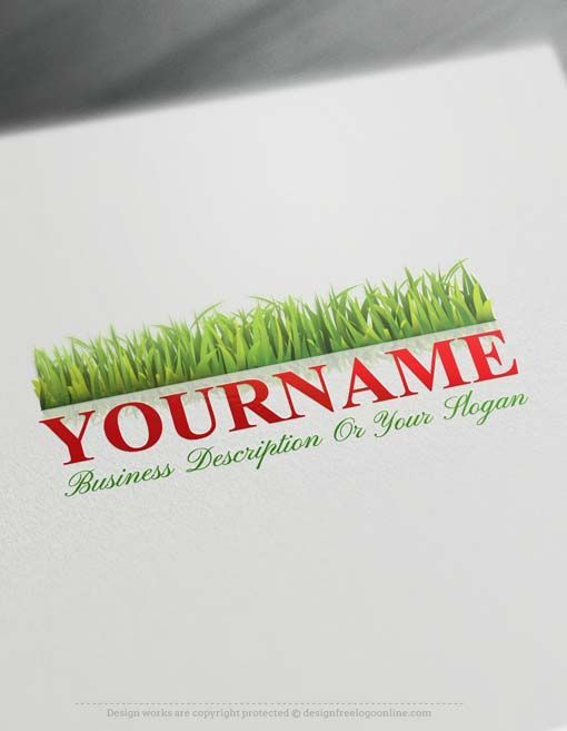 Online Green Grass Logo Design - Makea Logo with our Free Logo Maker Ready made Green Grass Logo Design with a growing grassimage.GrassLogo Designs are great forbranding Natural lawn products, fertilizer, landscape architect, wheat-grass, etc. etc. How to createalogo online with our Free Logo Maker? 1- Customize this logo with our free logo creatortool. Use our Logo