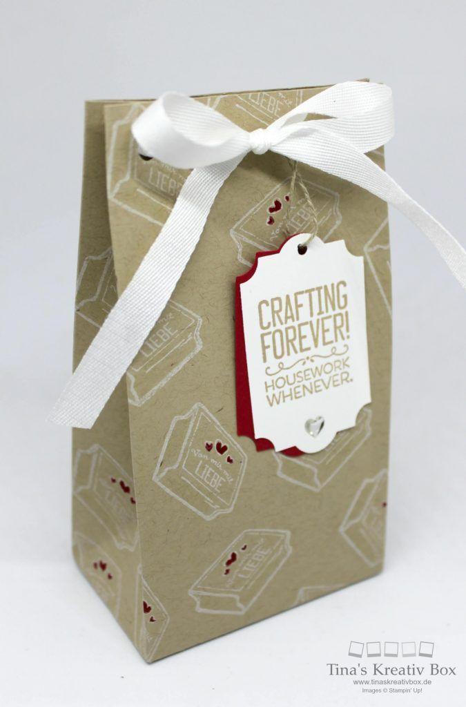 Pootler's Design Team Woche 3 – Geschenktüte Kreiert mit Liebe - mit Produkten von Stampin' Up!