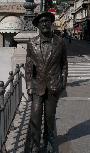 Statue of James Joyce  Trieste  Italy