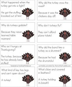 Free Printable :: Thanksgiving Jokes