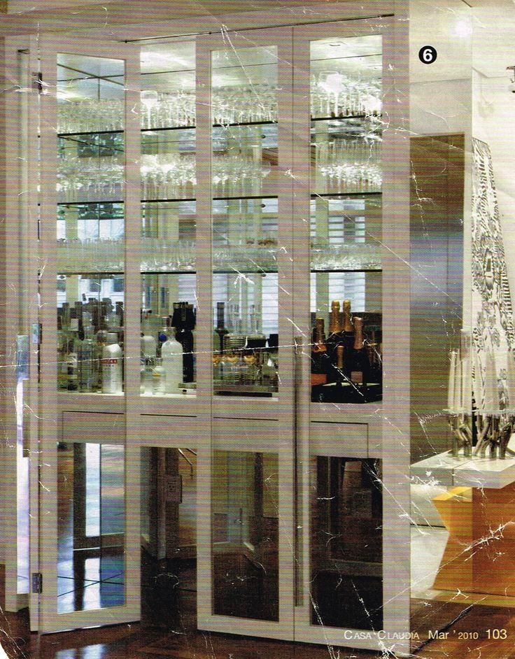 cristaleira espelho vidro porta camarão