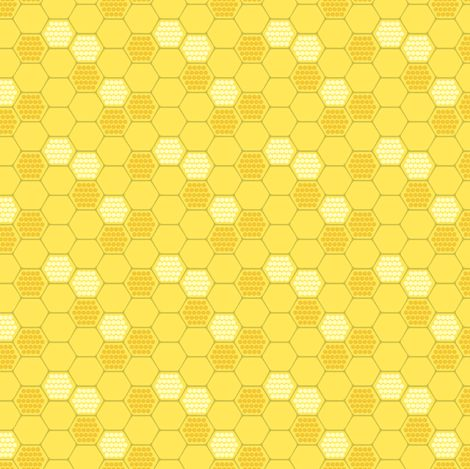 Golden Honeycomb Fabric By Pattysloniger On Spoonflower