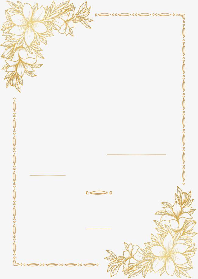 wedding invitation card golden vector
