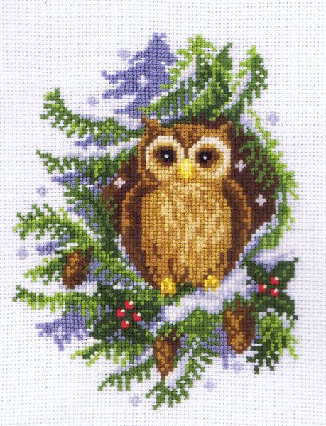 white owl cross stitch chart | Left click to enlarge the image; Right click to reduce the image.