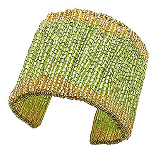 Green and Gold Colour Seed Bead Women's Fashion Cuff Bracelet 55mm in Width 925e http://www.amazon.co.uk/dp/B019B5JAP0/ref=cm_sw_r_pi_dp_Trx7wb02DM6EH