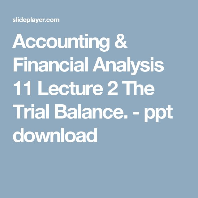 The 25+ best Trial balance ideas on Pinterest Accounting help - example of a financial report