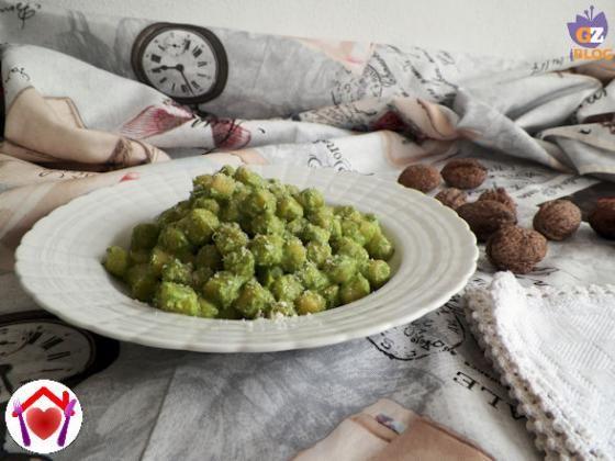 Gnocchetti al pesto di spinaci novelli  #ricette #food #recipes