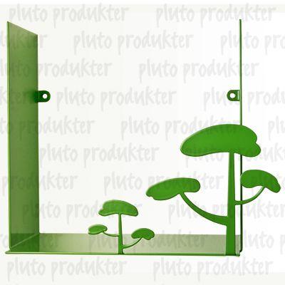 Bokhylle/vegghylle landskap grønn