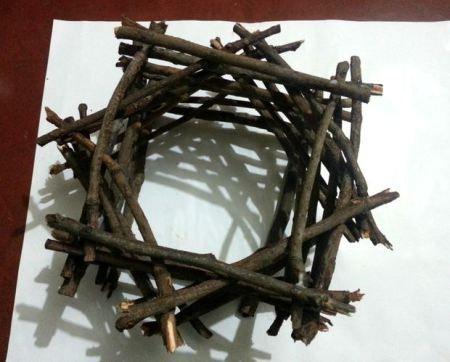 Como hacer una rustica lampara con ramitas | Todo Manualidades