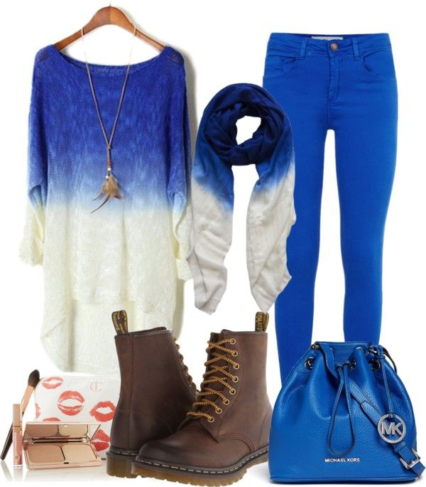 Trendy Blue With Combo hijab Outfit