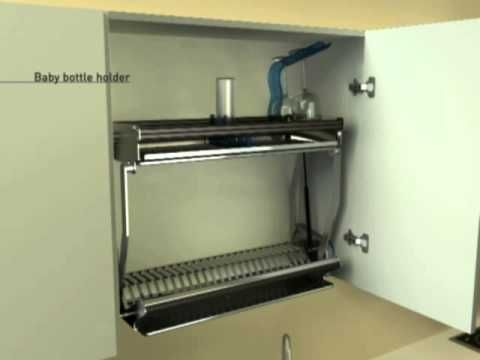 The Drip Dry Cabinet Dish Rack Drainer System To
