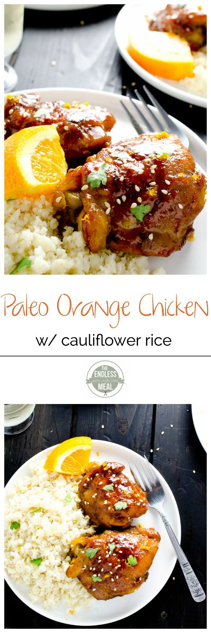 Paleo Orange Chicken with Cauliflower Rice