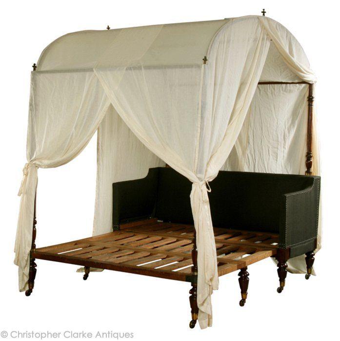 Campaign furniture: Antique Portable Sofa Bed