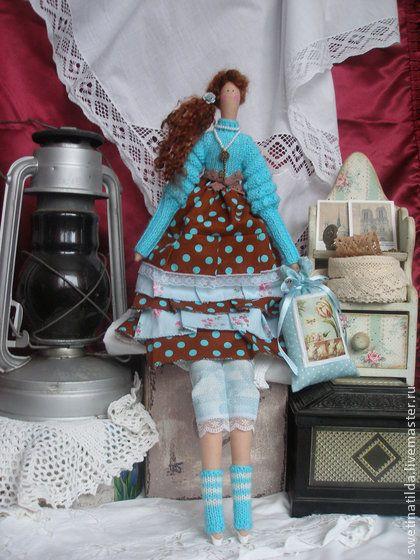по мотивам Бетси - бирюзовый,кукла,тильда,уютный дом,кукла ручной работы