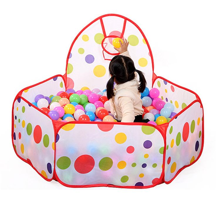 Large Children Kid Ocean Ball Pit Pool Game Play Tent with Ball Hoop Indoor Outdoor Garden Playhouse Kids Tent