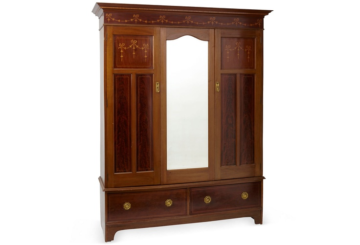 Victorian Fruitwood Armoire