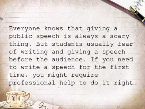 Custom speech writing online