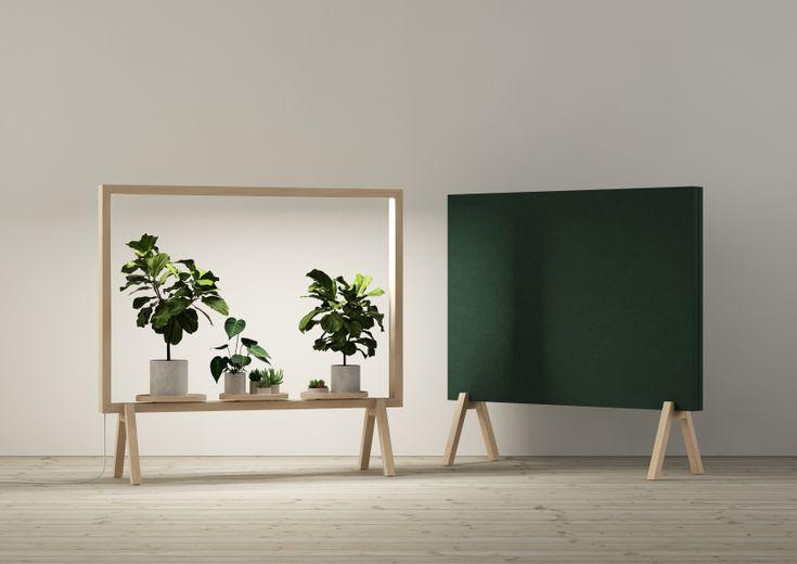 Vem önskar inte fler gröna fönster på jobbet? GreenFrame är en golvskärm med belysning som ger krukväxter och grönska en framträdande roll i interiörer, även där dagsljuset kanske inte är tillräckligt. GreenFrame tillverkas helt i massiv ask och bidrar till bättre inomhusklimat, trevligare arbetsplatser och gladare växter.