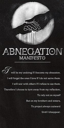 Abnegation Manifesto - cool! I loved the book Divergent and can't wait to get Insurgent in the mail!  BTW: the abnegation manifesto is longer in the back of the book and has the other manifestos, too