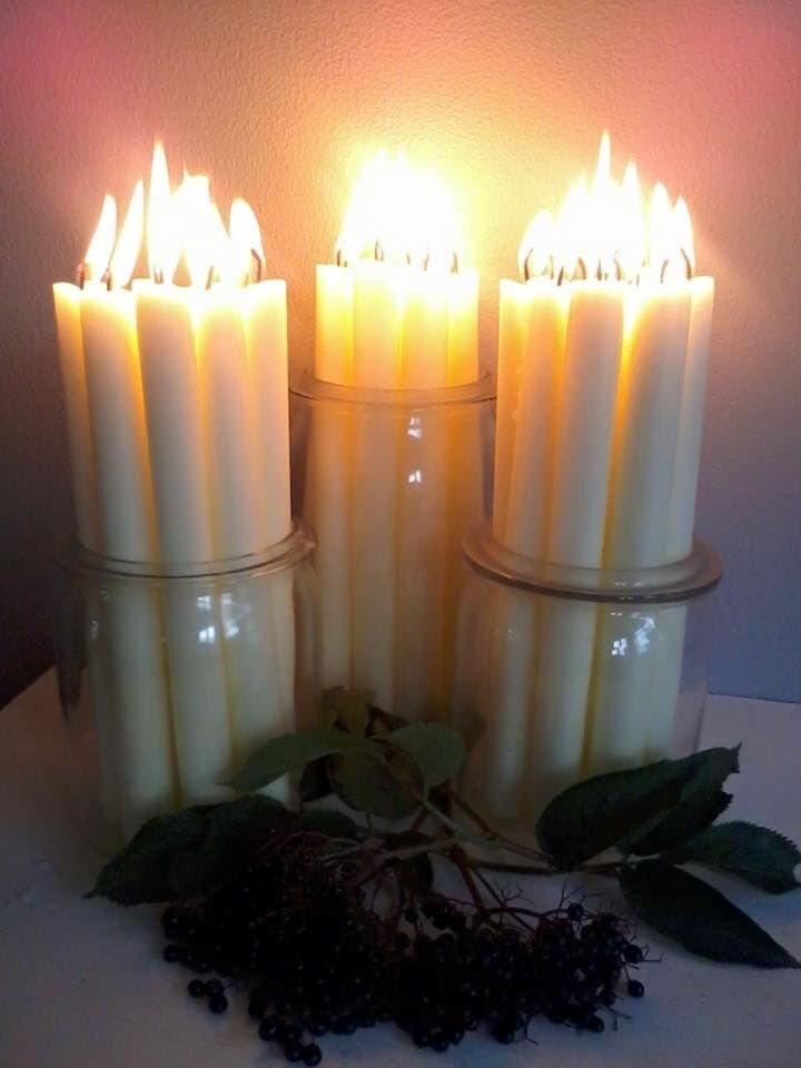 These candles are so pretty- what a great idea
