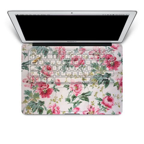 flower Macbook keyboard Decal Pro Sticker Air Skins Cover computer art Protector