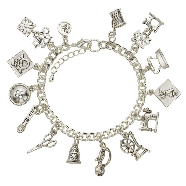 Sewing and Quilting Charm Bracelet