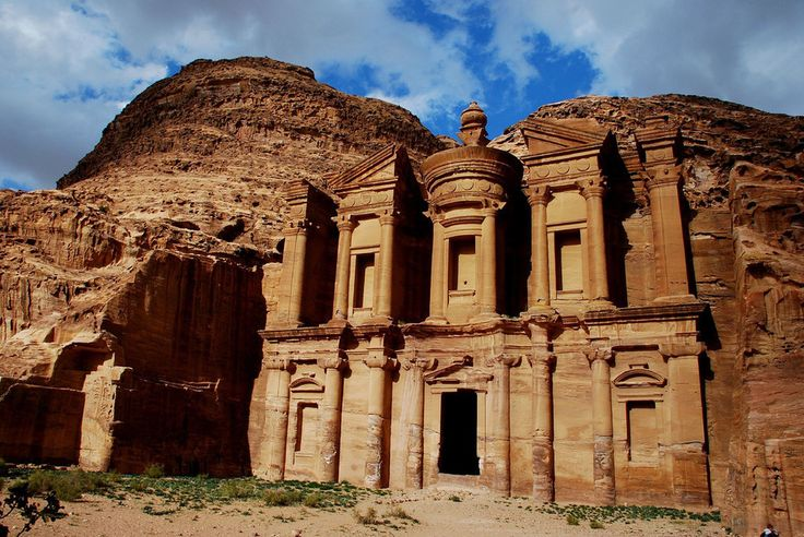 Petra, Jordan aka Rose City due to the color of the rock in which the city was carved 2,000 years ago.