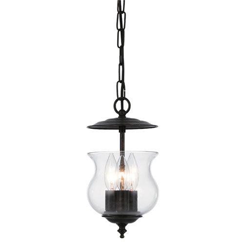 bronze three light bell jar pendant pendants english and jars. Black Bedroom Furniture Sets. Home Design Ideas