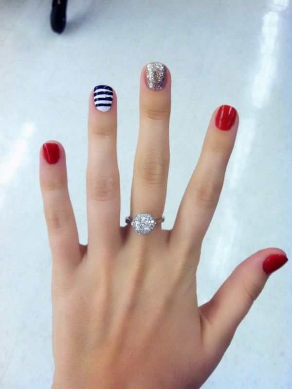 Best 25+ Patriotic nail ideas on Pinterest | July 4th nails designs, 4th of  july nails and American flag nails - Best 25+ Patriotic Nail Ideas On Pinterest July 4th Nails