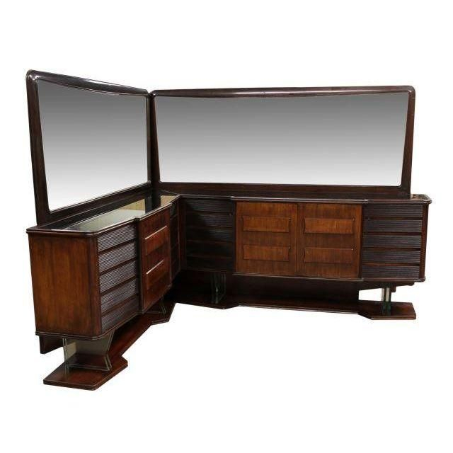 Image of Mid Century Italian Corner Sideboard