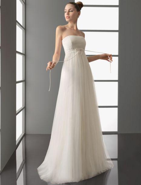 Ампир с футляром современное простое пляжное длинное свадебное платье шлейф с открытой спиной кружево