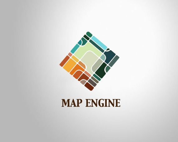 Map Engine Logo Design