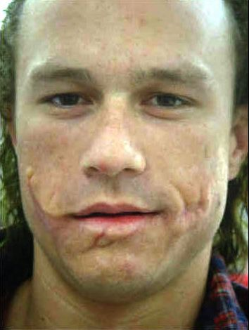 Heath Ledger's Joker without makeup