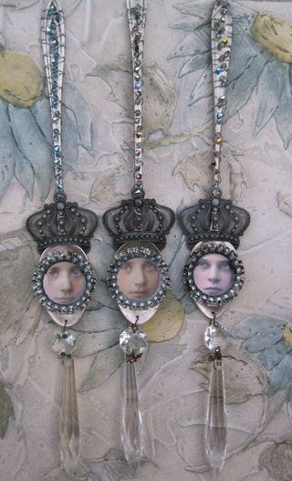 Tea Spoon Queens, not crazy about the faces, but could be used with other vintage items