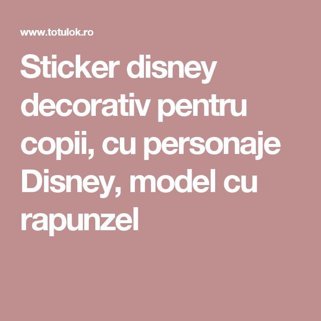 Sticker disney decorativ pentru copii, cu personaje Disney, model cu rapunzel