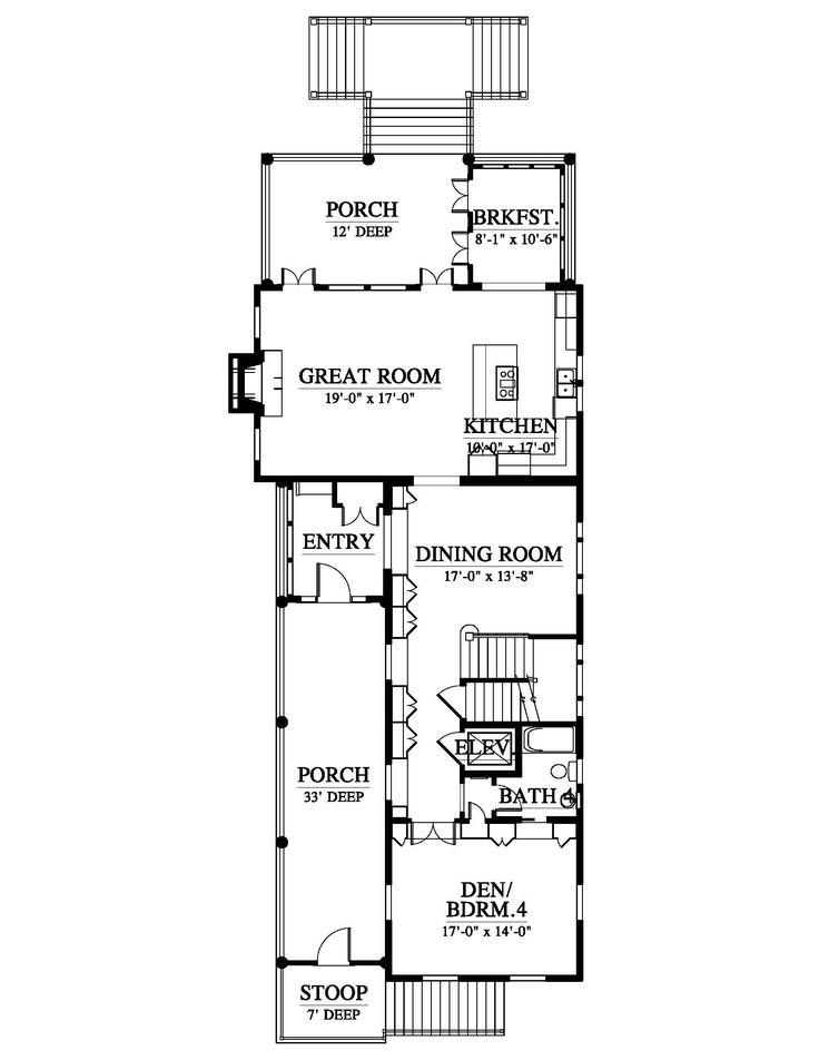 31 best reverse living house plans images on pinterest for Reverse floor plan