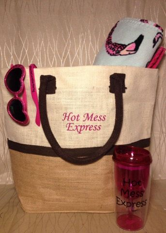 Hot Mess Express Beach Tote/Bag for Bridal by GreenBridalBoutique