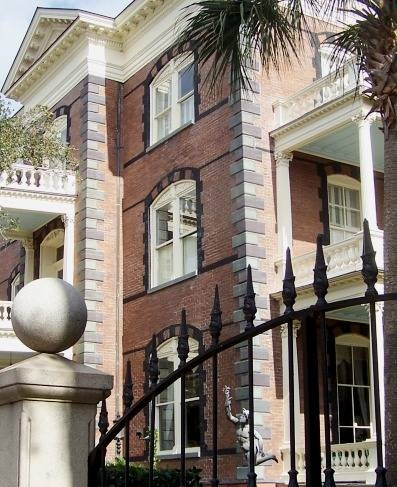 (1876 Calhoun Mansion Italianate style, Charleston) not my taste but love how impressive it is