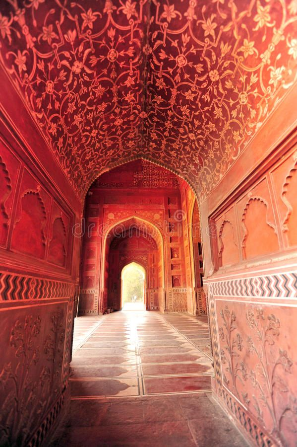 Taj Mahal India Inside Of The Taj Mahal Mosque Red Stone With Exquisite Carving Sponsored India Mosque Ta Taj Mahal India Taj Mahal Stock Images Free