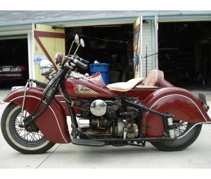1940 Indian Four 4 Cylinder with sidecar