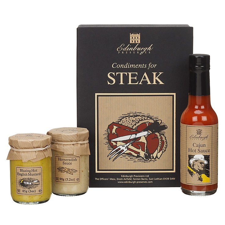 Buy Edinburgh Preserves Condiments For Steak Gift Set, 323g online at John Lewis