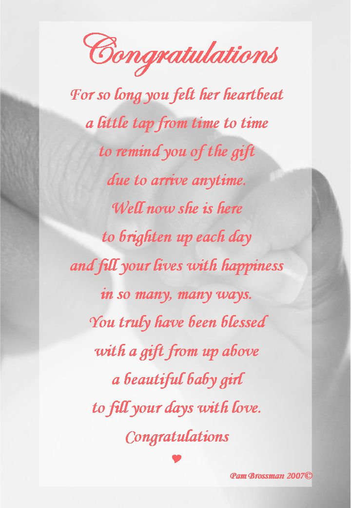 Congrats on your baby girl poem | quotes | Pinterest ...