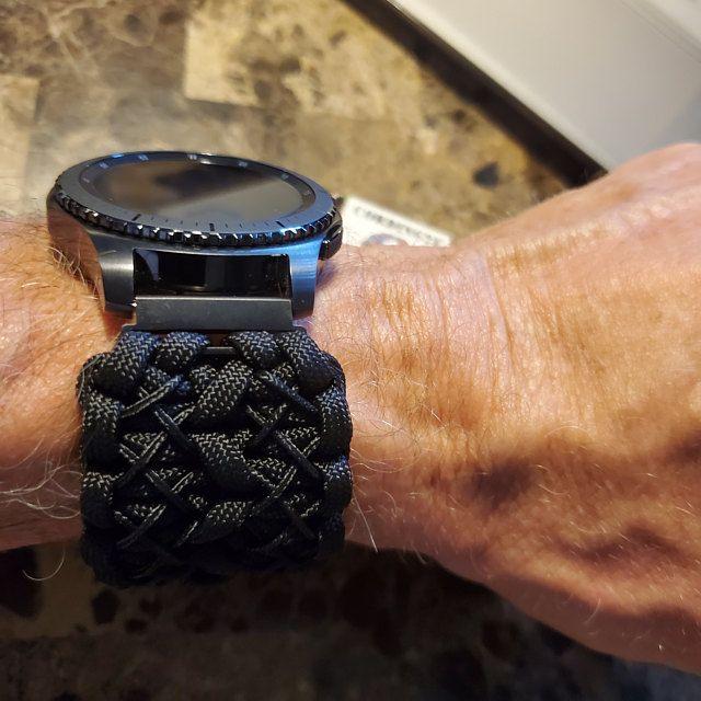 Samsung Galaxy Watch Band Gear S3 Frontier Gear Sport Paracord Band Paracord Strap 550 Cord Samsung Strap In 2020 Samsung Watches Apple Watch Strap Apple Watch Accessories
