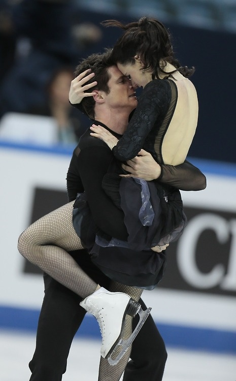 Silver lining: World champions Tessa Virtue and Scott Moir of...
