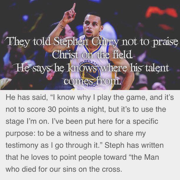 NBA mvp Stephen Curry giving glory to Christ!!