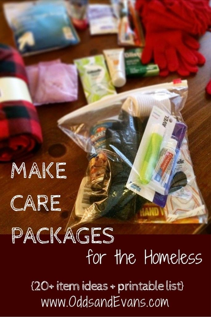 """Homeless Care Packages plus Printable checklist and dos/don'ts.  Grab some extra items while you're shopping to make these """"blessing bags"""" for handing to those in need - Odds & Evans"""