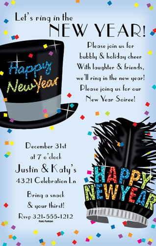 31 best New Years Party Invitations images on Pinterest New year - best of invitation wording for year end party