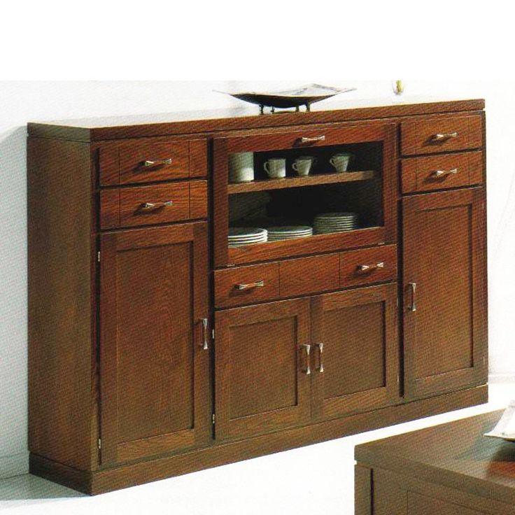 2398 aparador vajillero en madera fresno muebles for Muebles aparadores modernos